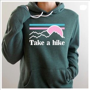 Take a Hike Hoodie-Green, New With Tags 1M 1L.